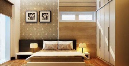 Mẫu phòng ngủ hiện đại lấy cảm hứng từ gỗ